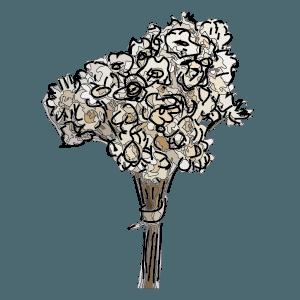 Fiori bianchi secchi